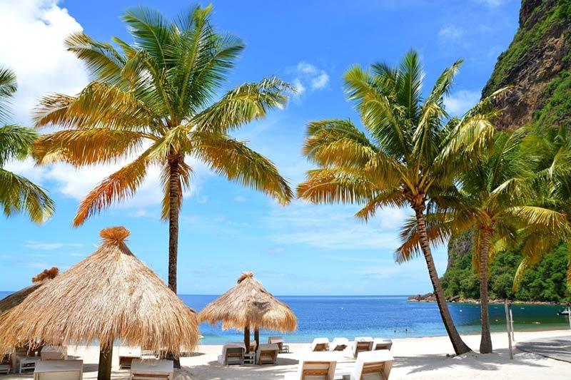St Lucia beautiful beach