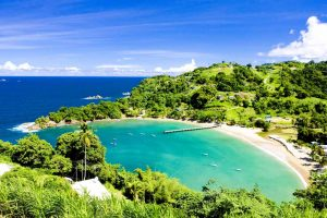 Sandy Beach in a Bay in Trinidad and Tobago