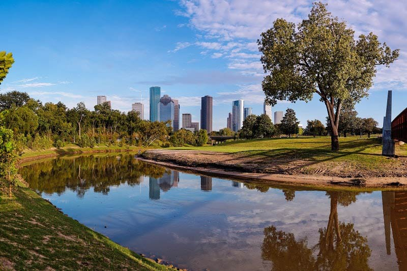 Houston City Skyline from Buffalo Bayou