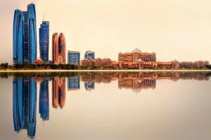 Reflection of Abu Dhabi Skyline - Your Next First Class Destination | Just Fly Business