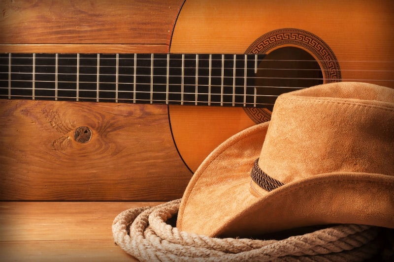 Country Music Guitar and Hat in Nashville, Tennessee