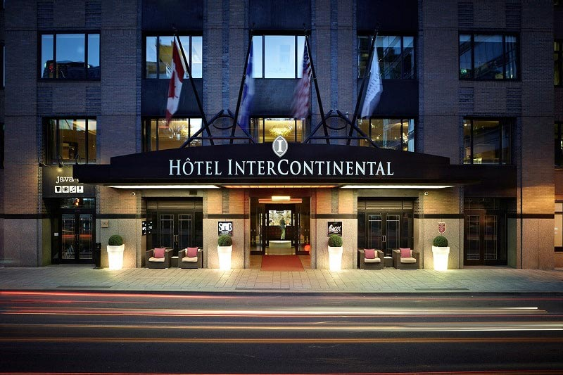 Main Entrance of the InterContinental in Montreal, Canada