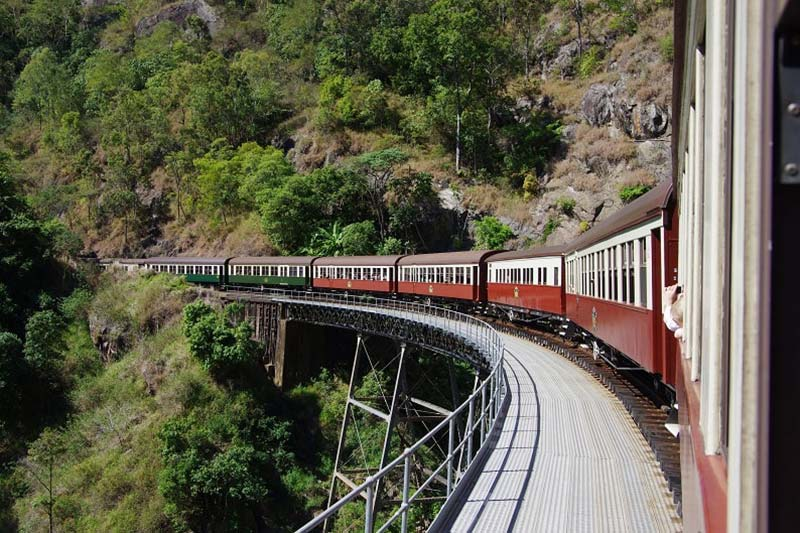Kuranda Scenic Railway between Kuranda and Cairns, Queensland