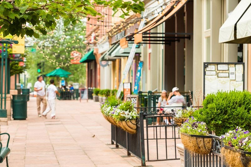 Restaurants in Larimer Square in Denver, Colorado