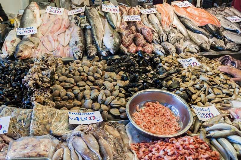 Seafood Market, Mercado Centrale in Satiago de Chile