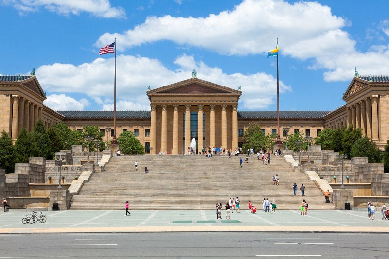 Steps from Rocky Movie at Museum of Art in Philadelphia, Pennsylvania