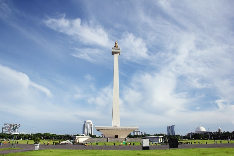 Monas National Monument in Jakarta, Indonesia