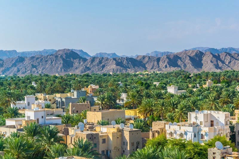View from Nizwa Fort near Muscat, Oman