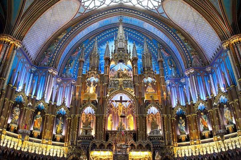 Notre-Dame Basilica Interior in Montreal, Canada