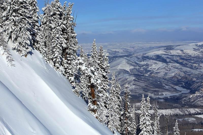 Winter Ski Slopes in Park City near Salt Lake City
