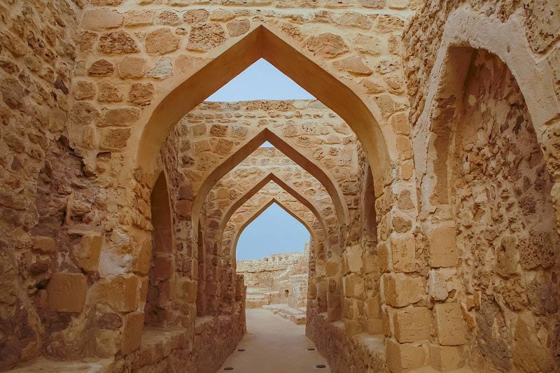 Arches in the Bahrain Fort