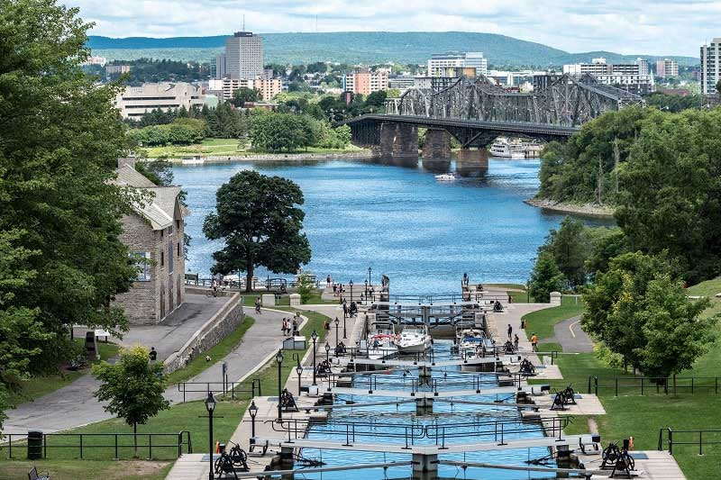 Rideau Canal Locks - Ottawa Canada - Just Fly Business