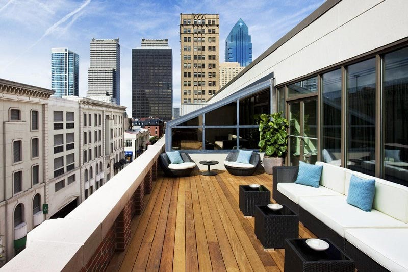 Rittenhouse Hotel Rooftop Lounge in Philadelphia, Pennsylvania