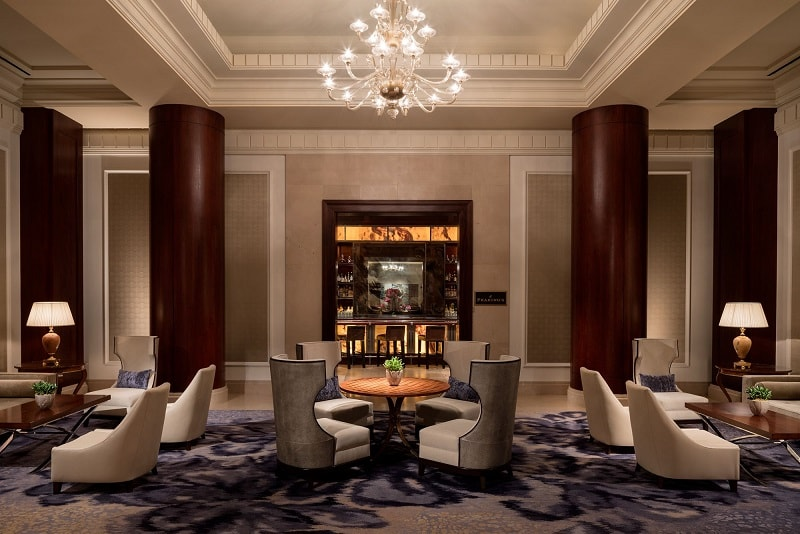 The Lobby of the Ritz-Carlton Hotel in Dallas, texas