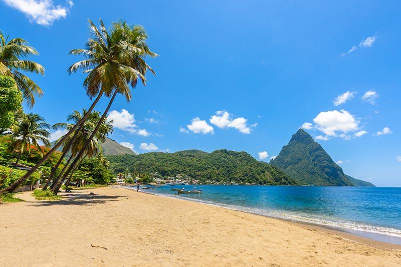 St Lucia Sandy Beach