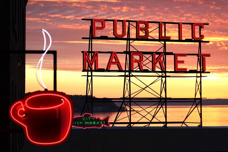 Signage at Pike Place Market, Seattle