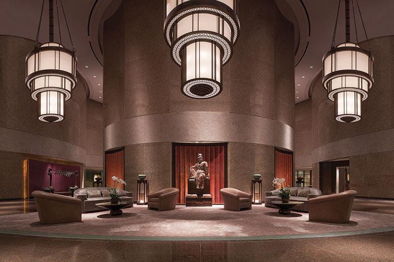 The lobby of the Shangri-La Far Eastern Hotel in Taipei