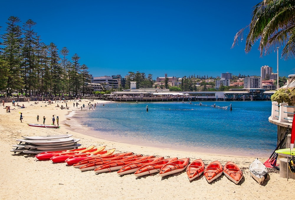 Sydney beach in summer