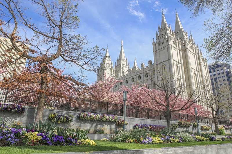 Salt Lake Temple T Temple Square in Salt Lake City, Utah