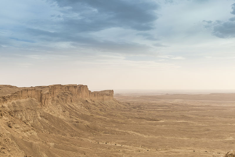 Cliffs overlooking the desert known as the Edge of the World near Riyadh, Saudi Arabia