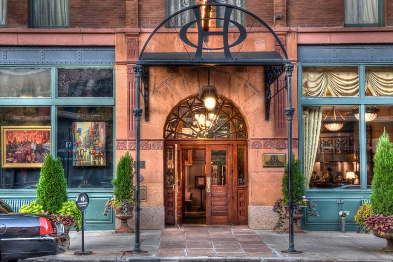 The Oxford Hotel entrance in Denver Colorado