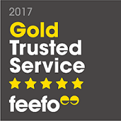 Feefo Gold Trusted Service Award 2017 | Just Fly Business
