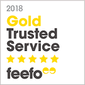 Feefo Gold Trusted Service Award 2018 | Just Fly Business
