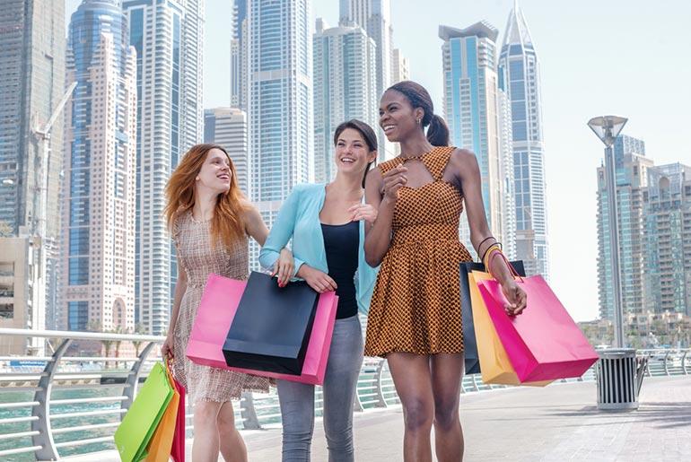 Women shopping in Dubai