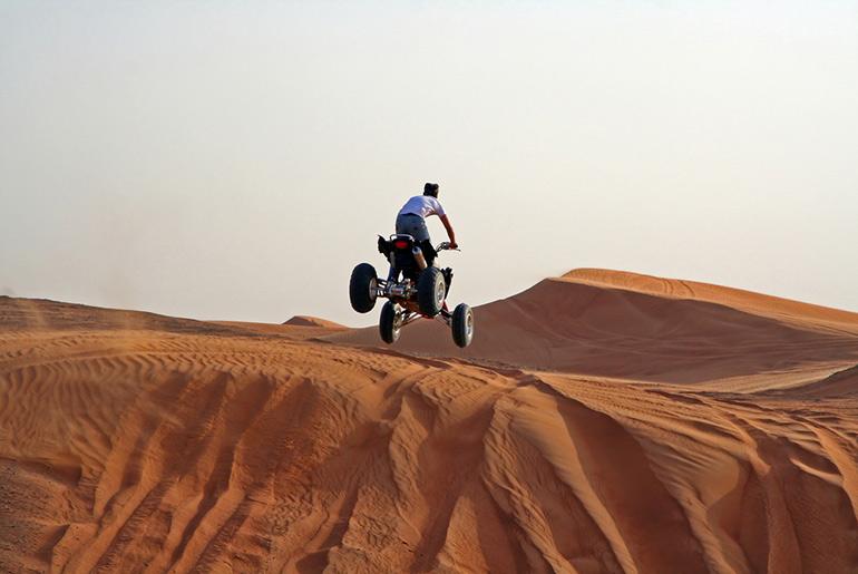 Quad biking in the Dubai desert