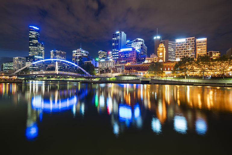 Melbourne at Night - Adventurous Business Trip - Just Fly Business