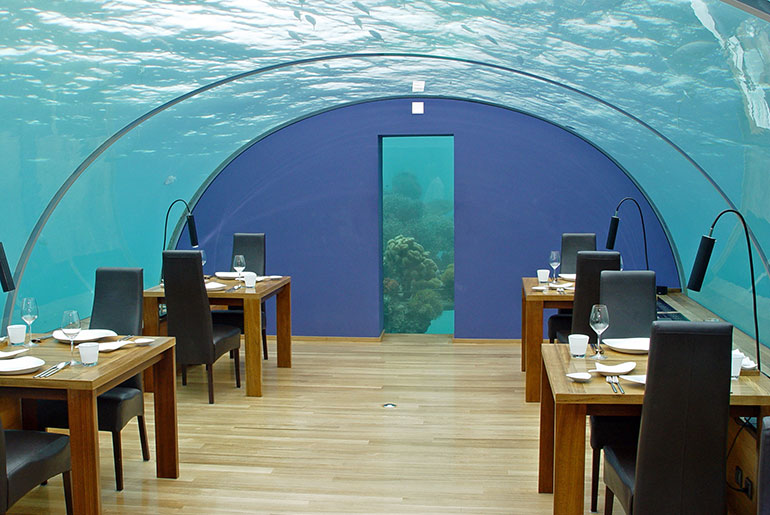 Underwater Restaurant in the Maldives - Just Fly Business