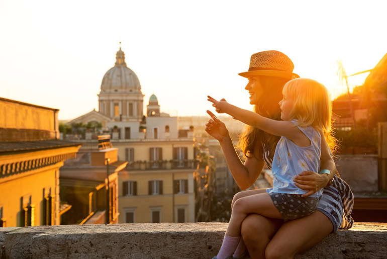 Family at Sunset - Family Bucket List Locations - Just Fly Business