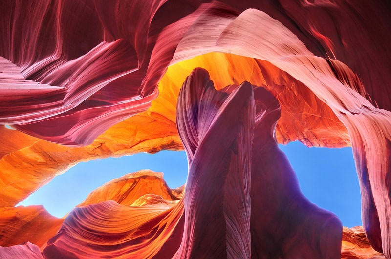 Vertical View in Antelope Canyon, Arizona, USA