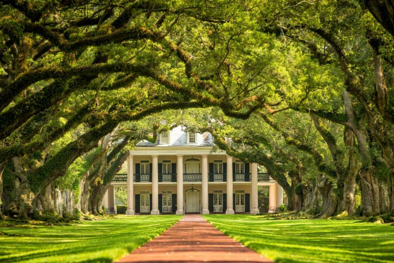 Oak Alley Plantation in New Orleans, USA