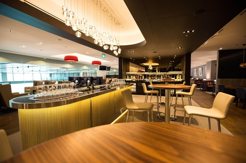 British Airways Concorde Lounge in Singapore for First Class Passengers