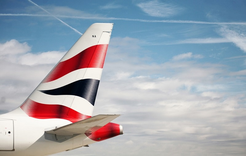 British Airways Airbus A380 Tail