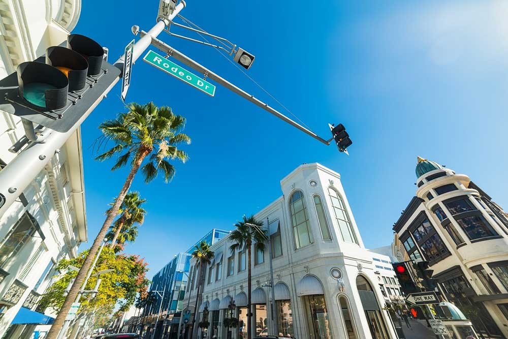 Rodeo Drive in Los Angeles, California