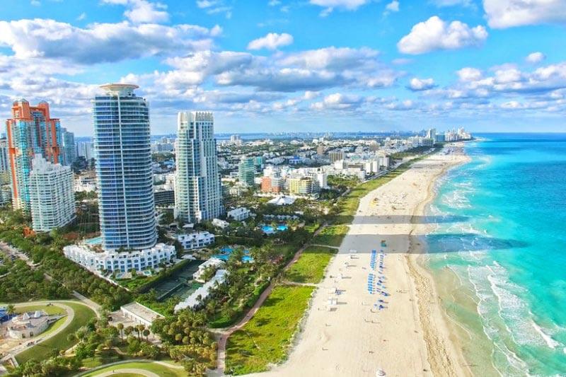 South Beach in Sunshine in Miami, Florida