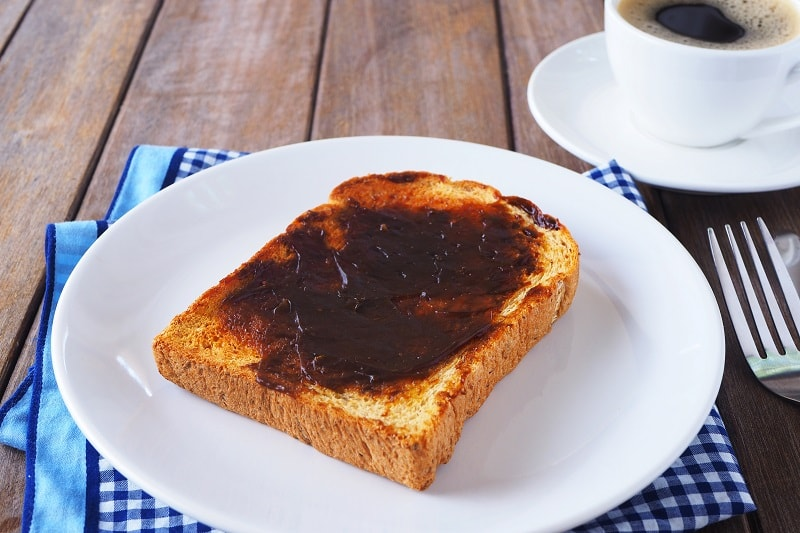 Australian Breakfast with vegemite on toast
