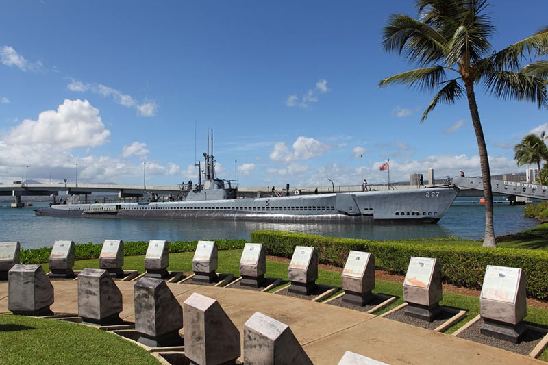 Submarine USS Bowfin at Pearl Harbor Hawaii