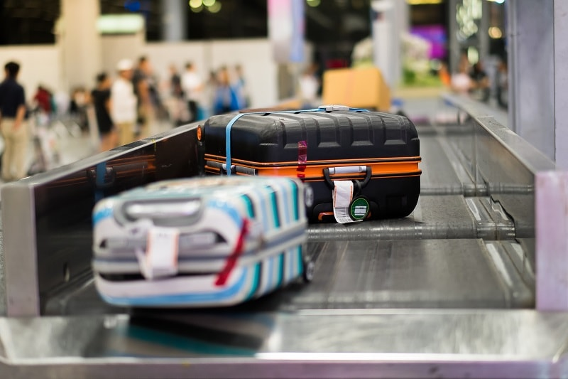 Luggage on Baggage Conveyor