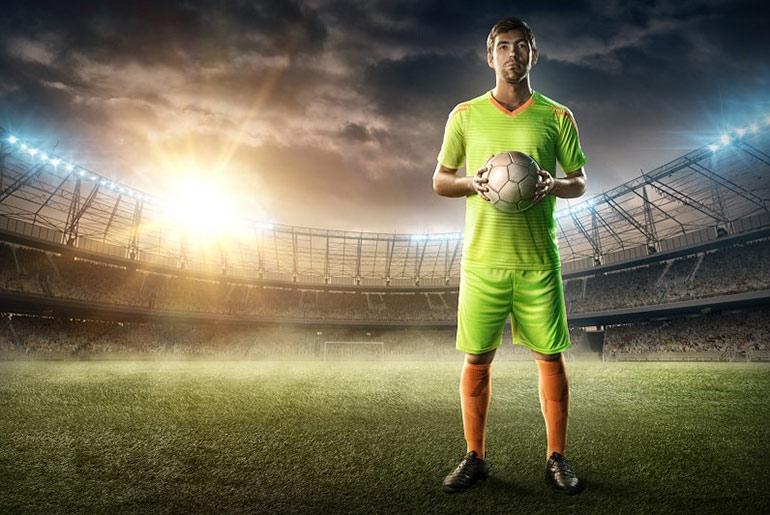Football player in Stadium