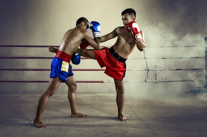 Muay Thai Fighters in Ring in Thailand