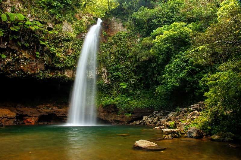 Tavoro Waterfall on Taveuni Island, Fiji