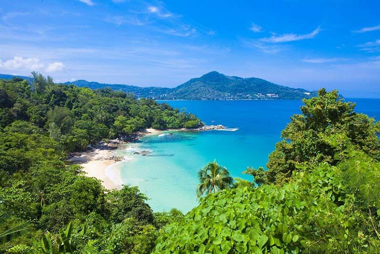 Laem Sing Beach in Phuket, Thailand