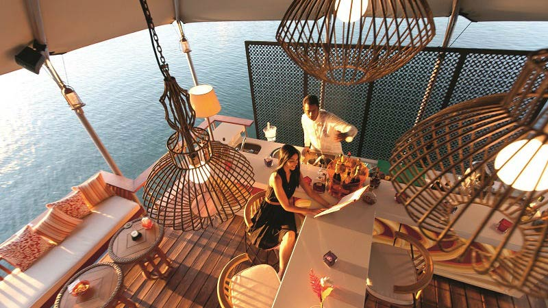 Floating Bar - Luxury Holiday at Constance Prince Maurice | Just Fly Business