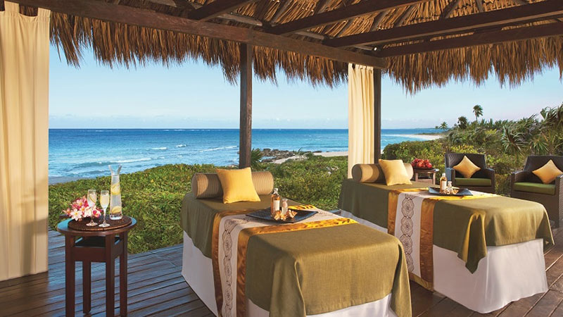 Massage Tables - Luxury Holidays at Dreams Tulum Resort Cancun | Just Fly Business