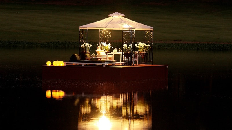 On Water Dining at Banyan Tree, Phuket