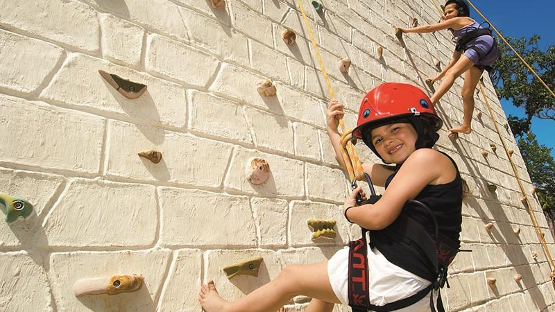 Climbing Wall - Luxury Holiday at Dreams Tulum Resort & Spa Cancun - Just Fly Business