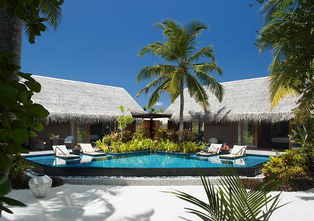 2 bed villa on beach